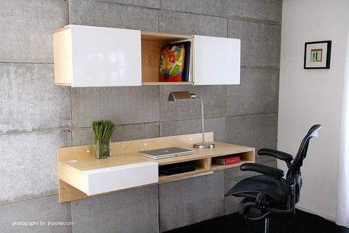 LAX Wall Mounted Desk & Wall Mounted Shelf
