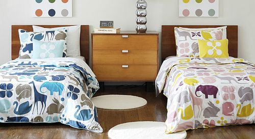 DwellStudio GIO Aqua & Lemon Bedding