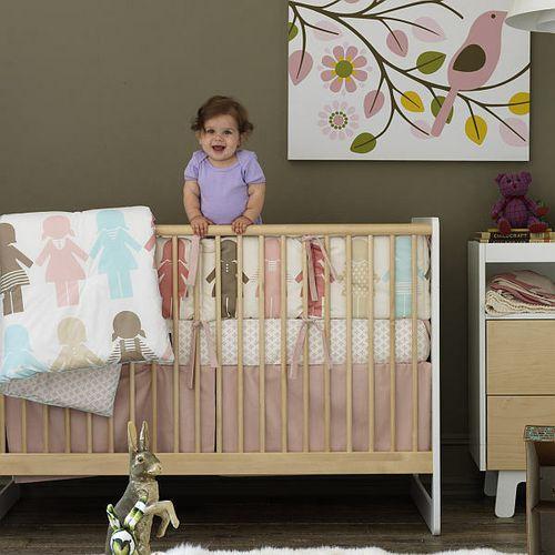 PAPER DOLLS Crib Set