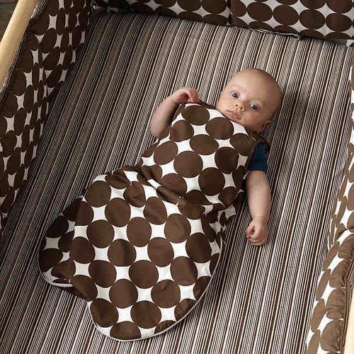Dwell Studio Sleep Sack DOTS chocolate