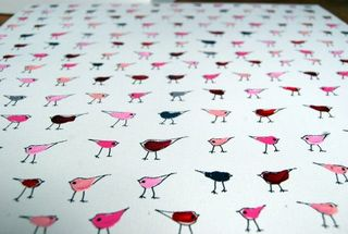 Custom lotsa o birdies grey and charcoal