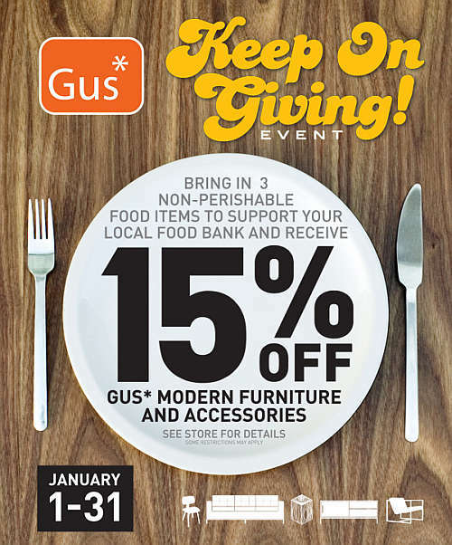 Gus Modern Keep On Giving Event