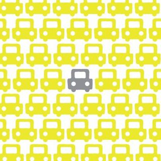 Avalisa Wall Art Auto Pattern Yellow Grey