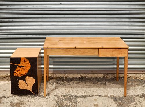 Iannone Design - Cork Filing Cabinet & Rewrite Desk