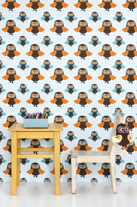 Ferm living wallpaper owls 510 (2)