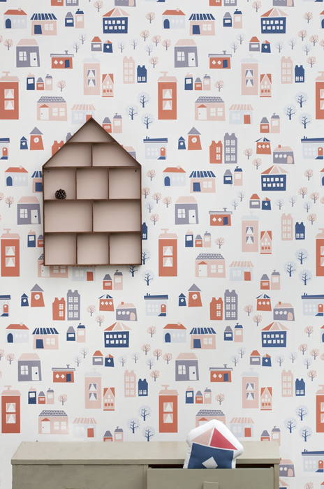 Ferm living wallpaper the village 501 (3)